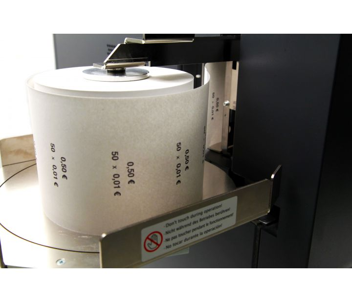 coin roll wrapping machine